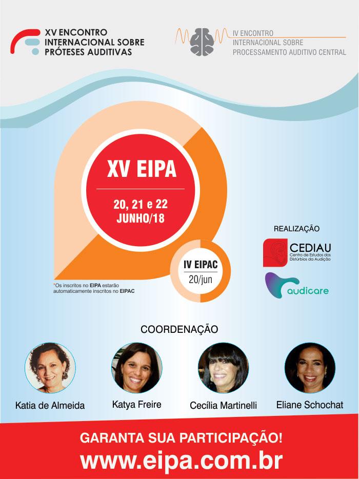 Capa do XV Encontro Internacional sobre Próteses Auditivas e IV Encontro Internacional sobre Processamento Auditivo Central